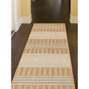 Desantiago Stripe Beige/Brown Indoor/Outdoor Area Rug