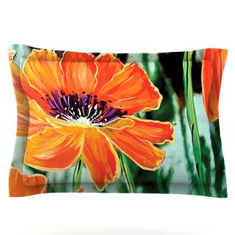 40 x 30 KESS InHouse Christen Treat Through the Looking Glass Orange Green Fleece Baby Blanket