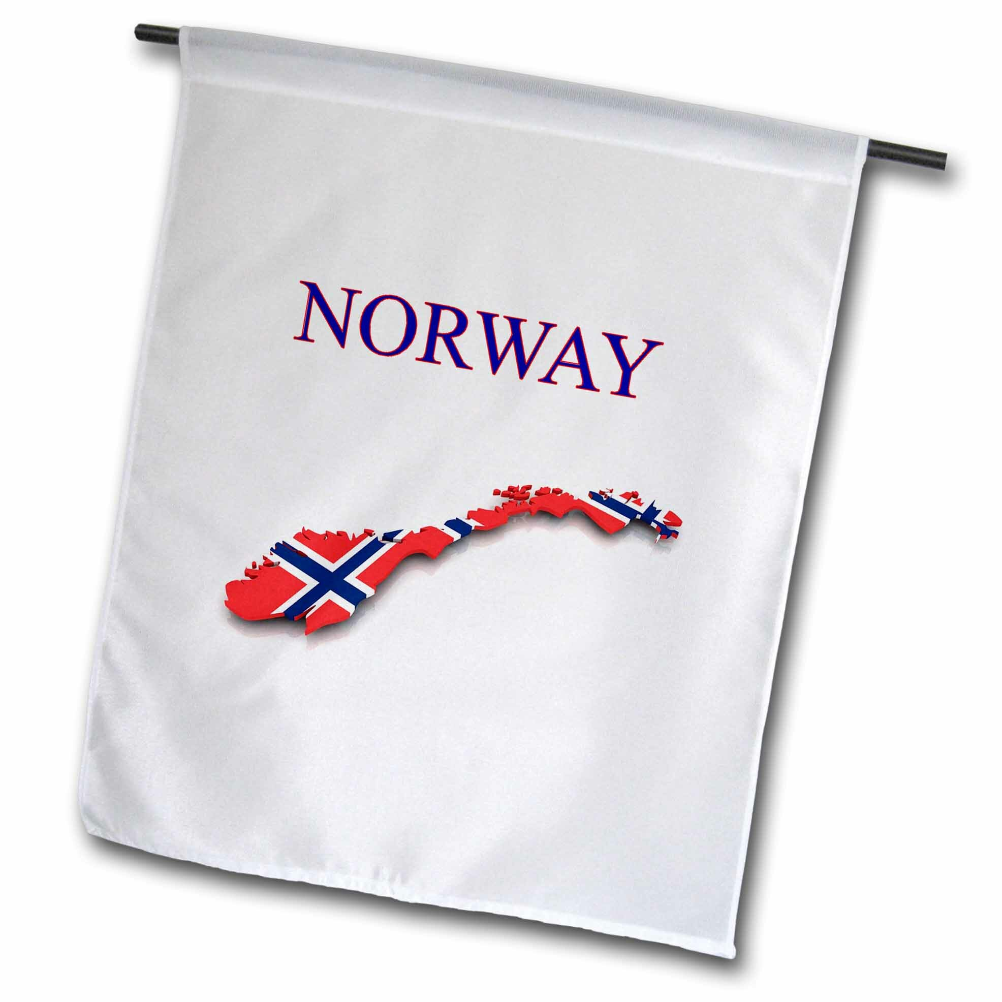 3drose Image Of Exotic Norway Map Polyester 18 X 12 In Garden Flag Wayfair