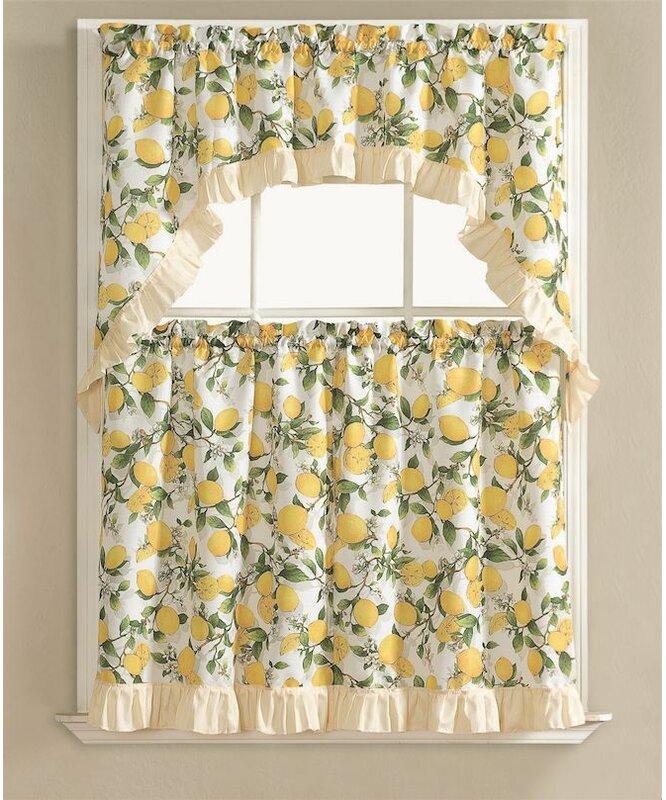 Storer Lemon Fest Kitchen Curtain Set