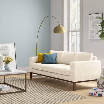 Allmodern 86 Wide Velvet Square Arm Sofa Reviews Wayfair Ca