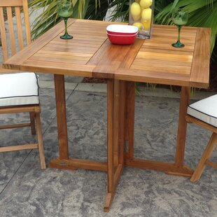Hatteras Folding Solid Wood Dining Table by Chic Teak