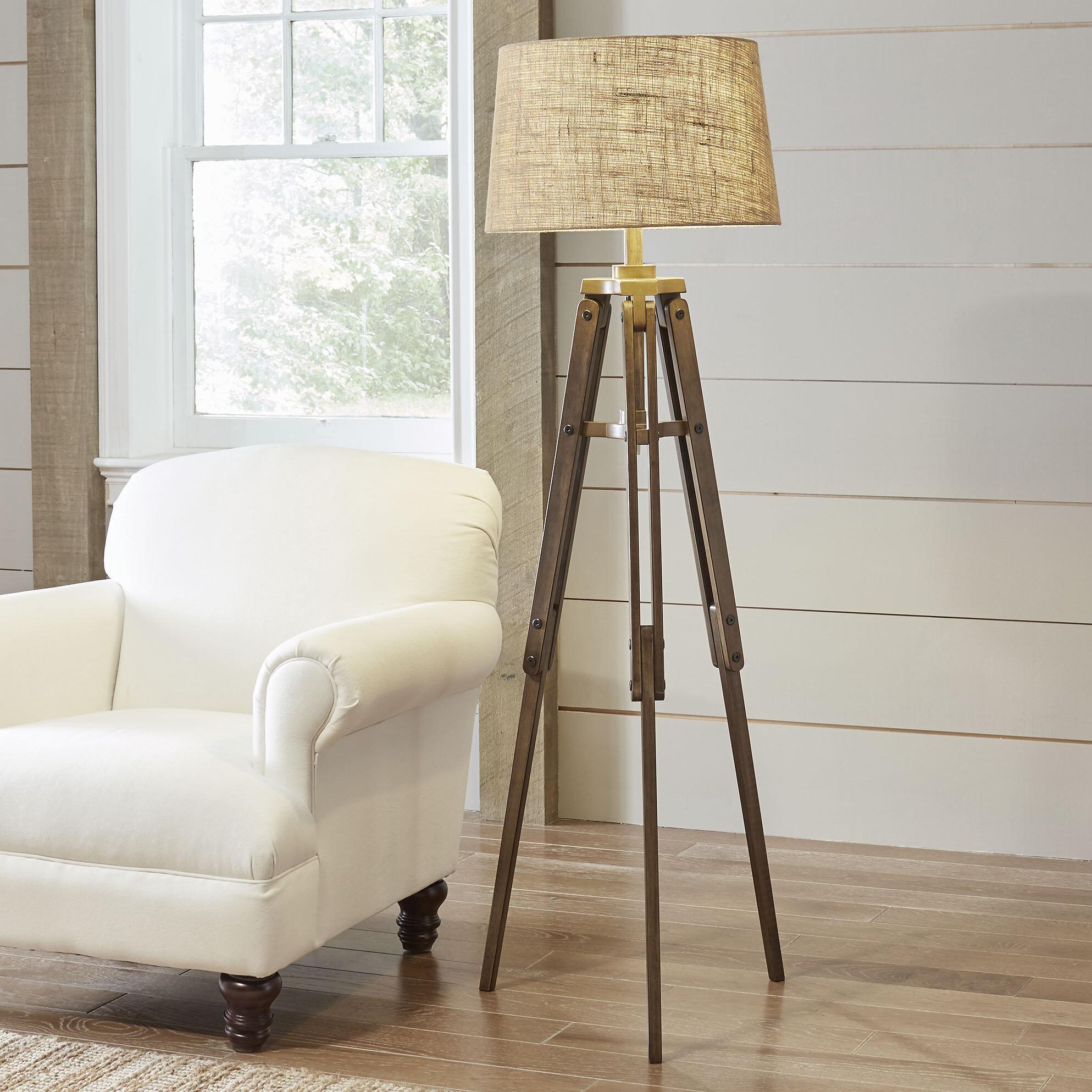 Rosalind Wheeler Lukes 62 25 Tripod Floor Lamp Reviews Wayfair