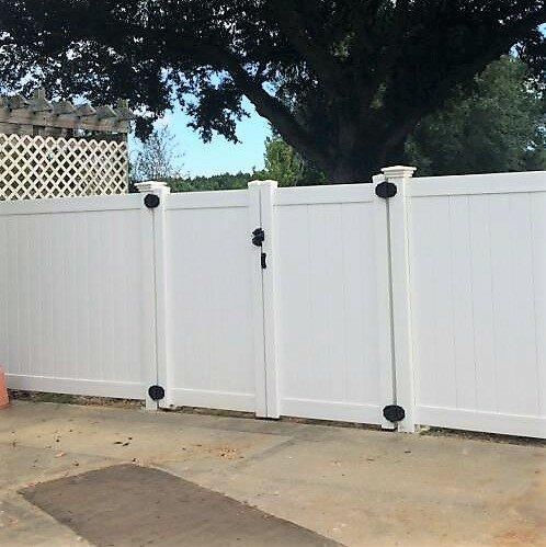 Vinyl Fence Wholesaler 6 ft. H x 8 ft. W Heavy Duty Rainier Privacy Fence Gate