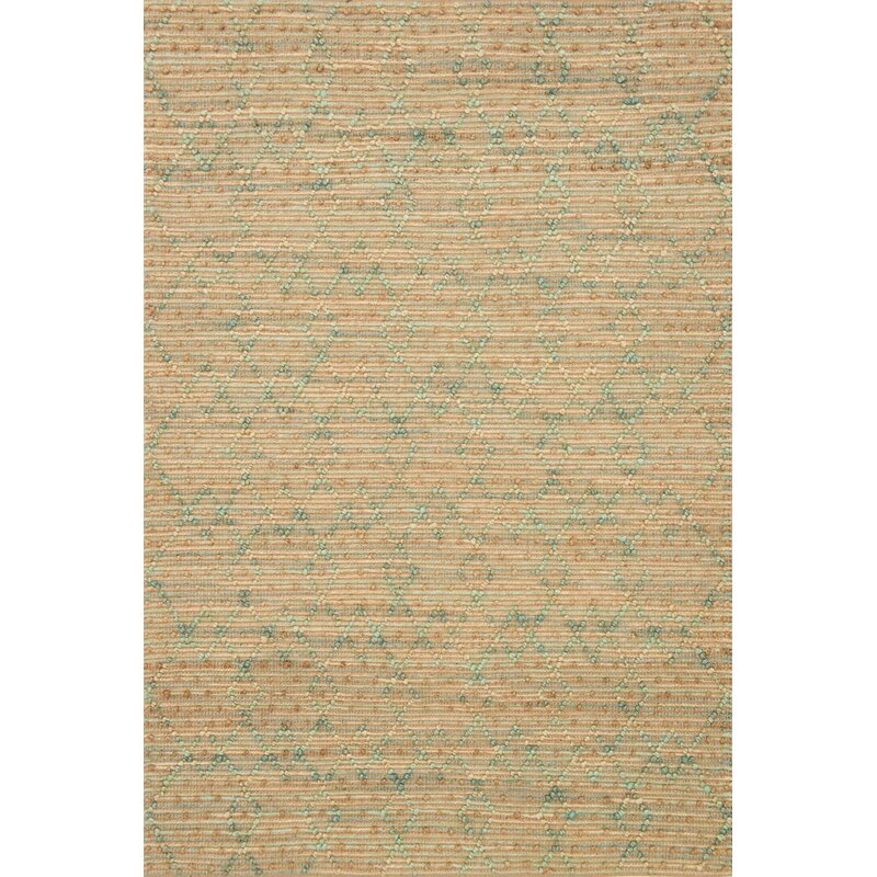 Loloi Rugs Beacon Geometric Handmade Flatweave Jute Sisal Light Brown Green Area Rug Perigold