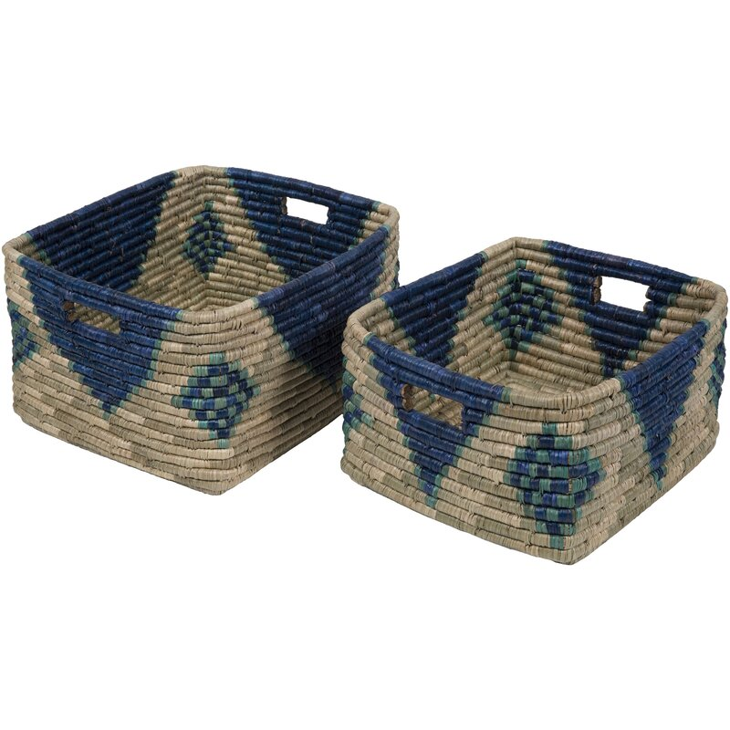 Bohemian/Global Navy, Mint Basket Set