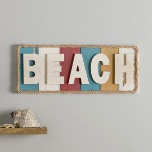 beach themed metal wall art wayfair