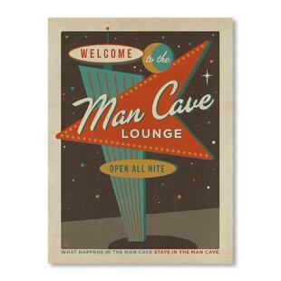 Man Cave Vegas Sign Graphic Art