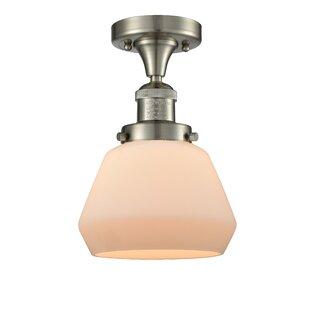 Best Reviews Dupree 1-Light Semi Flush Mount By Brayden Studio
