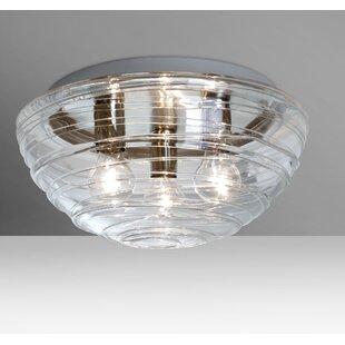 Besa Lighting Wave 3-Light Outdoor Flush Mount
