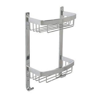 Rebrilliant Ellinger Aluminum Large 2-Tier Curved Basket