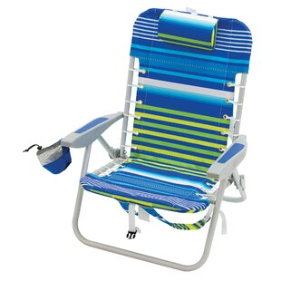 4-Position Lace-Up Backpack Reclining Beach Chair by Rio Brands