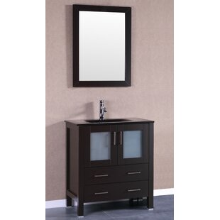 Compare Correll 30 Single Bathroom Vanity Set with Mirror By Charlton Home