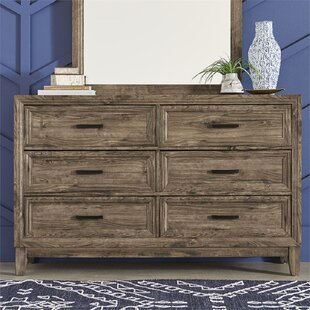 Swilley 6 Drawer Double Dresser by Loon Peak