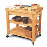 Wulfram Solid Wood Kitchen Cart by Winston Porter