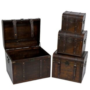 Bloomsbury Market Heaton 4 Piece Decorative Trunk Set