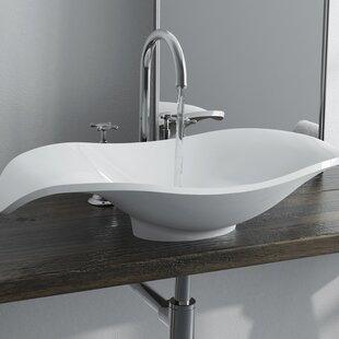 Read Reviews Corelli Polymarble Specialty Vessel Bathroom Sink By Calma