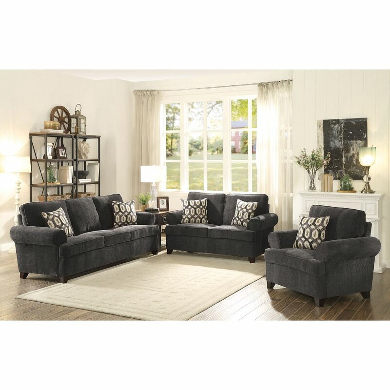 Darby Home Co Trisler Chenille 62 Rolled Arm Loveseat Wayfair