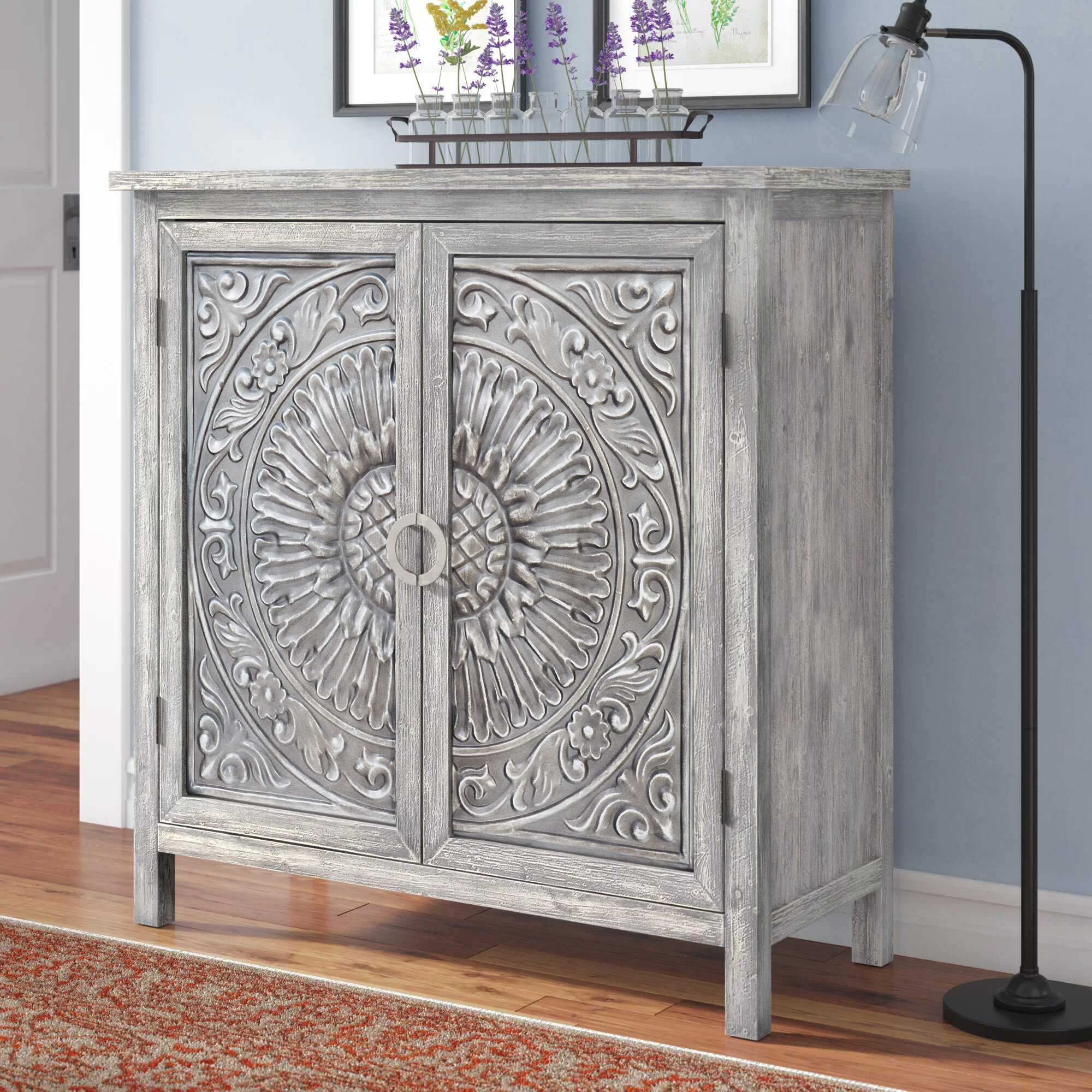 Mistana Sydni Traditional Carved Design 2 Door Accent Cabinet Reviews Wayfair Ca
