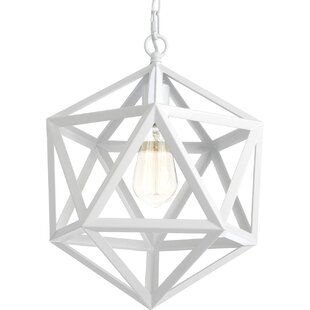Centeno 1-Light Geometric Pendant by Wrought Studio