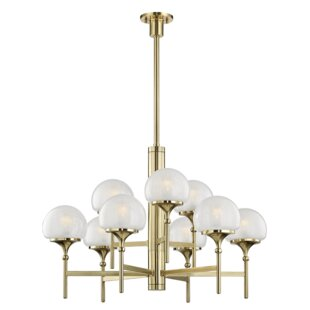Everly Quinn Leib 9-Light Shaded Chandelier