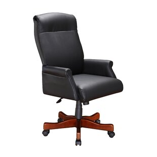 Three Posts Flannagan Leather Executive Chair