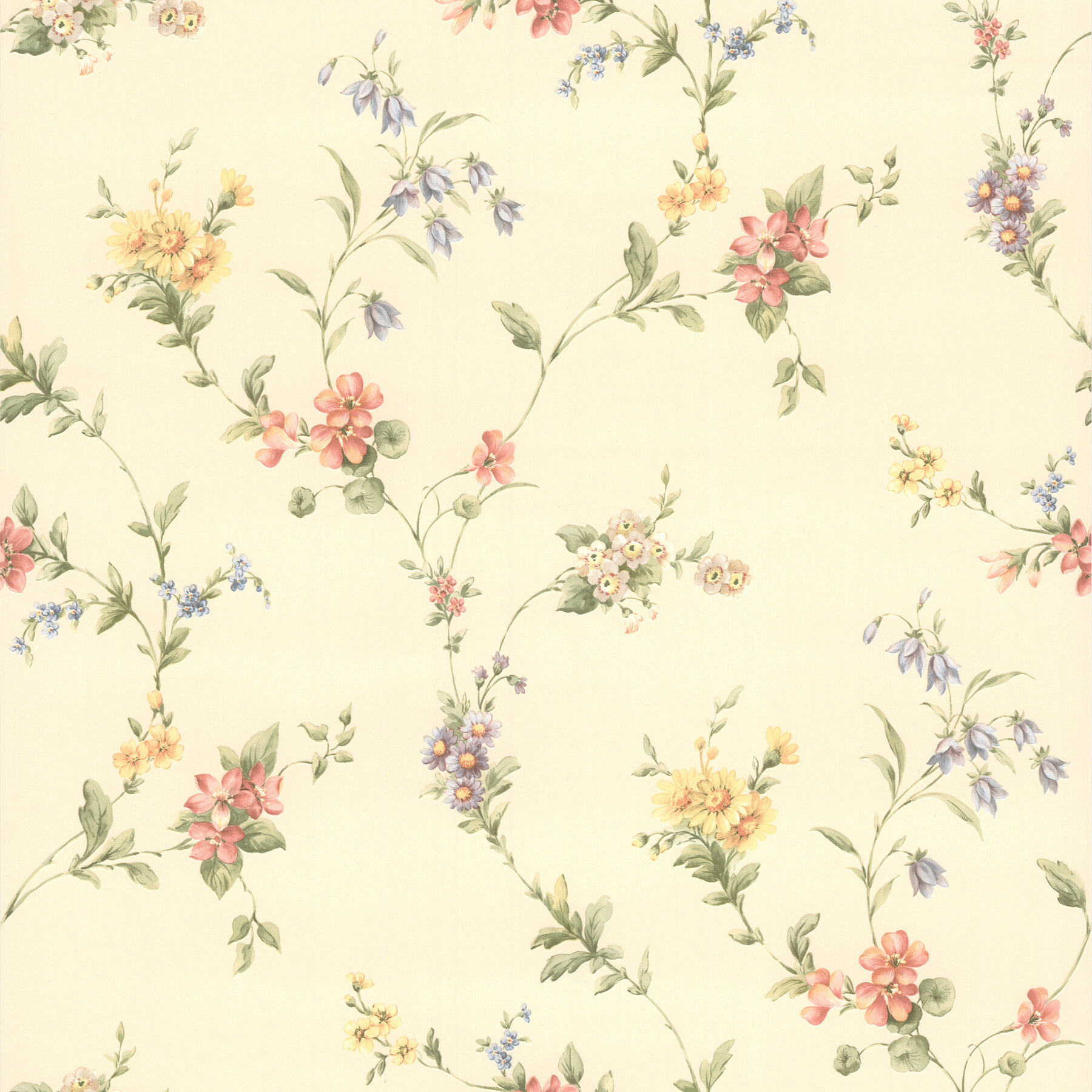 August Grove Prescod 33 X 20 5 Floral Wallpaper Wayfair
