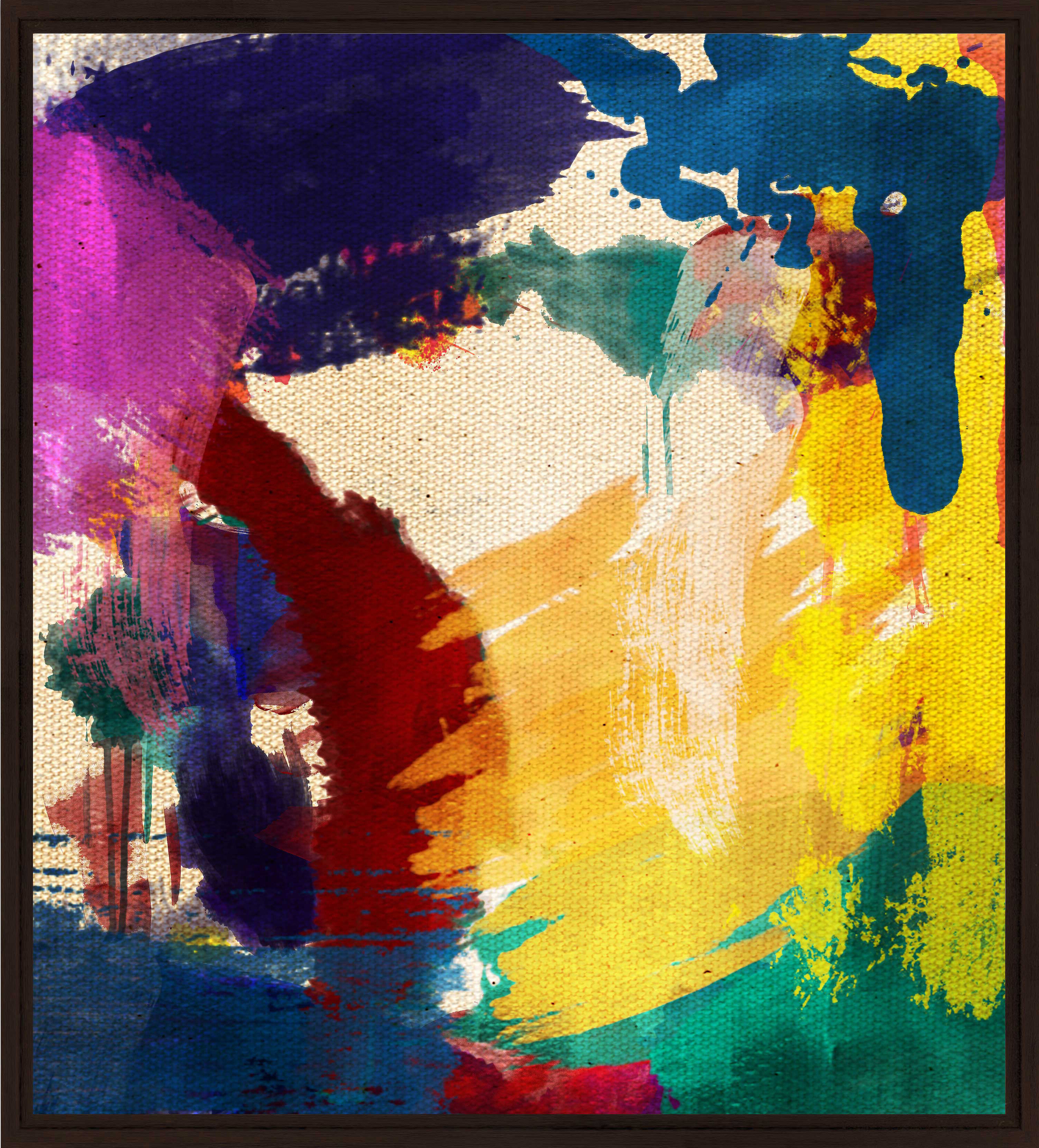 PTM Abstract Paint Framed Painting Print | Wayfair