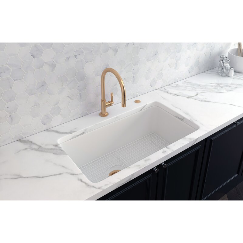 Rohl Allia 34 Fireclay Single Bowl Undermount Kitchen Sink Wayfair