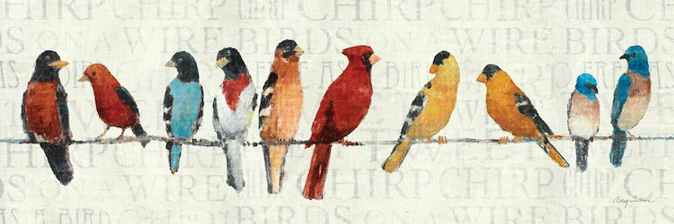 Red Barrel Studio The Usual Suspects Birds on a Wire Wall Art on ...