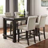 Danica 5 Piece Counter Height Dining Set by Foundry Select