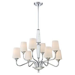Designers Fountain Lusso 8-Light Shaded Chandelier