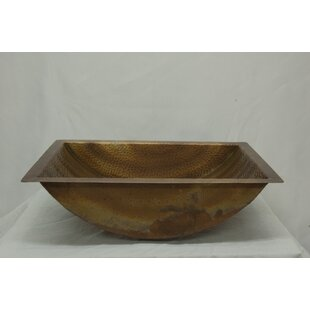Ambiente Canoe Hammered Copper Rectangula..