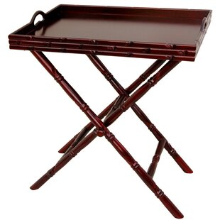 Smartt Tea Tray and Trestle Stand Set by World Menagerie