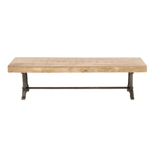 Diep Metal and Wood Bench
