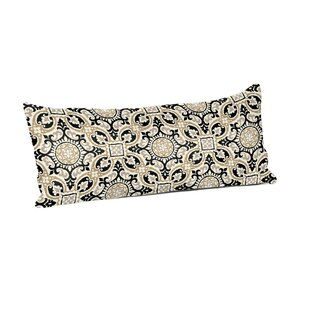 Haffner Mendoza Medallion Cobblestone Outdoor Lumbar Pillow
