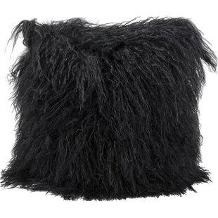 Springport Fur Throw Pillow