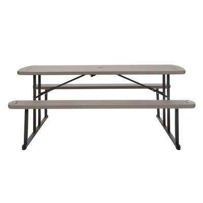 Adam Folding Plastic/Resin Picnic Table by Freeport Park