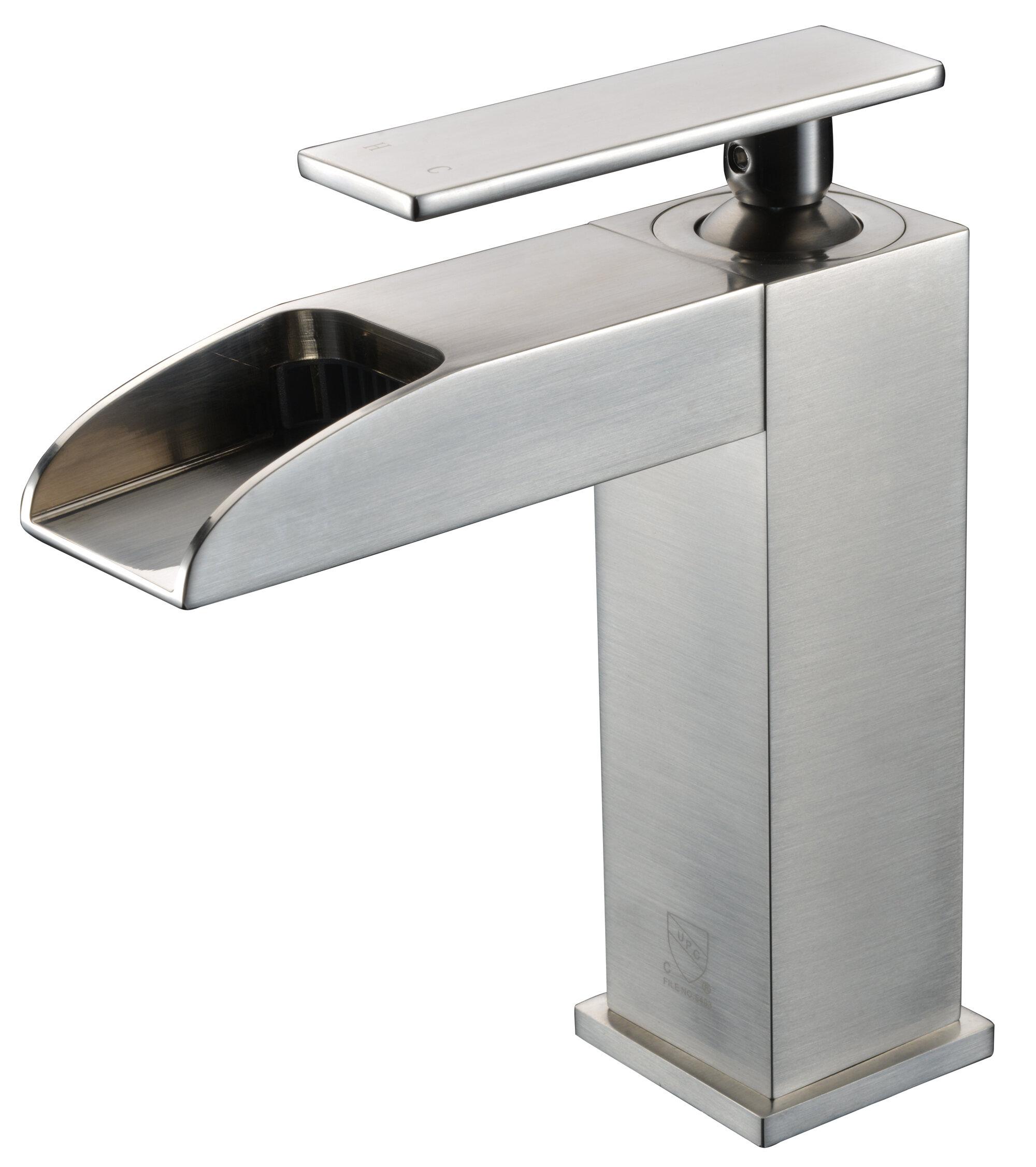 Alfi Brand Waterfall Deck Mounted Bathroom Faucet Wayfair