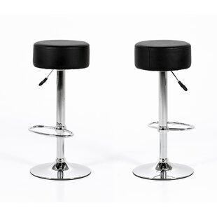 Orren Ellis Bruder Adjustable Height Bar Stool (Set of 2)