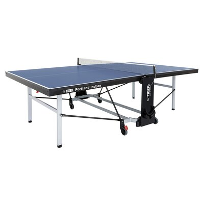 Portland Ping Pong Regulation Size Foldable Indoor Table Tennis Table (22mm Thick) TigerPingPong Finish/Color: Blue