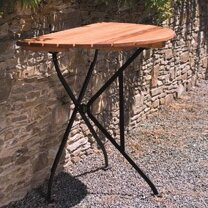 Dowe Folding Half Round Table