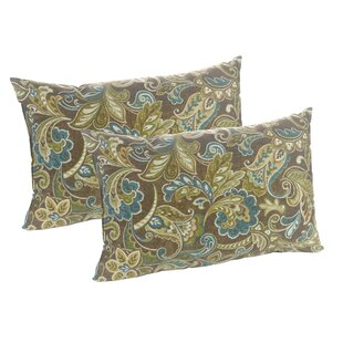Truffle Cashed Indoor/Outdoor Lumbar Pillow (Set of 2)