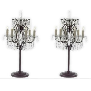 Andre Rococo Crystal 35 Table Lamp (Set of 2)