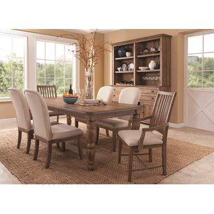 Panama Jack Home South Mountain Farmhouse Extendable Dining Table Set