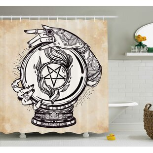 Tan Medium Crystal Ball Indian Single Shower Curtain
