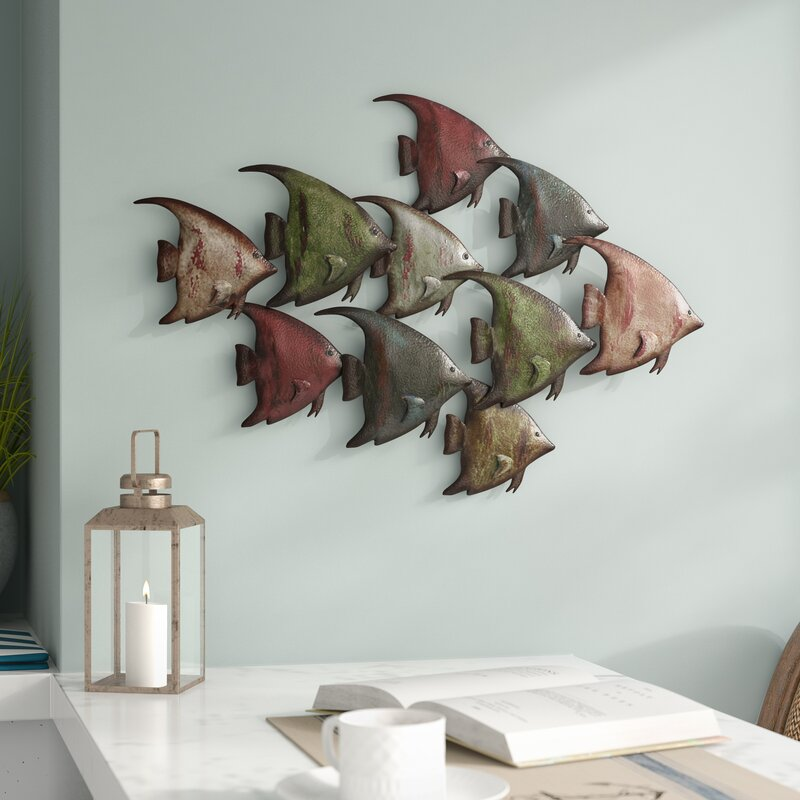 Coastal Metal Fish Wall Décor