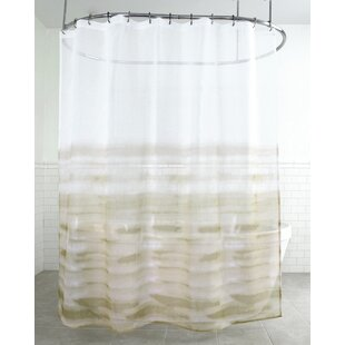 France Wave Fabric Single Shower Curtain