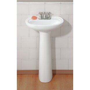 Fiore Vitreous China 19 Pedestal Bathroom Sink with Overflow ByCheviot Products