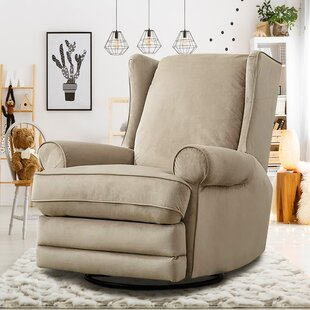 Halpin Modern Wingback Swivel Gliding Manual Recliner by Winston Porter